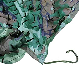 Image of DPPAN Military Camouflage Netting, Blinds Sunscreen Nets for Woodland Camping Desert Shooting Hunting Hide Party Decorations,Green_3x10m(10x33ft)