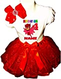 Owlette Party Dress 4th Birthday Red Tutu Outfit Shirt PJ Masks