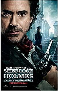 Sherlock Holmes 8 x 10 Photo Movie Poster Robert Downey, Jr. Holding Gun Scar on Cheek kn