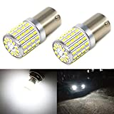 Phinlion 2000 Lumens 7506 1156 LED White Bulbs Super Bright 3014 72-SMD BA15S 1156 1073 7506 LED Bulb for Back-Up Reverse/Turn Signal/Brake Stop Tail Lights, 6000K Xenon White