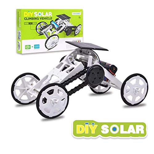 VVK Toys Science Kit for Kids - STEM 4WD Car DIY Climbing Vehicle Kit Electric Mechanical / Solar Power Science Building Toys for Boys Girls - Birthday Gift Toy for Kids Age 6+ Teens Adults
