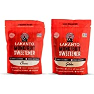 Monkfruit Natural Sweetener Variety Pack, Lakanto Classic & Golden Sweetener, 1 Lb each
