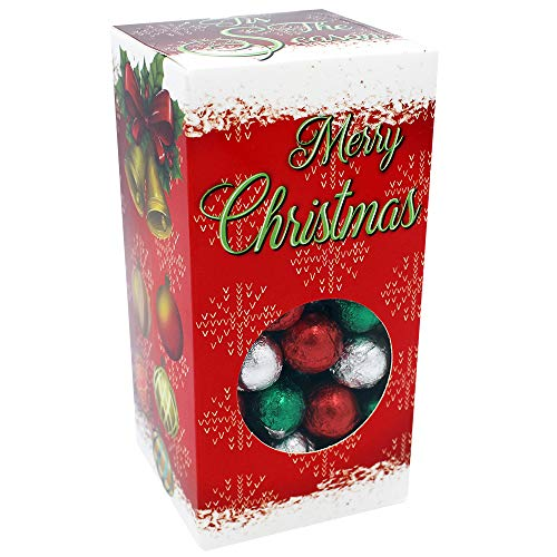 Christmas Chocolate Balls, Milk Chocolate Party Bag Fillers, Individually Wrapped Foils, Kosher OU-D