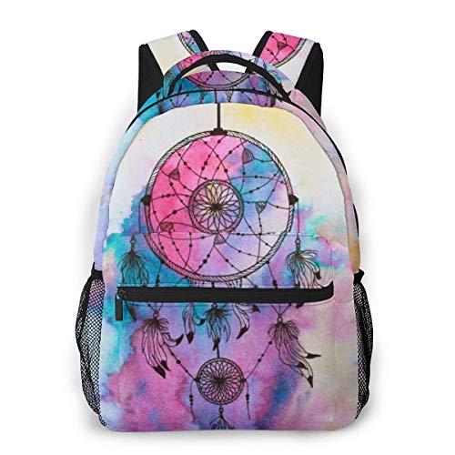 Lawenp Zaino Unisex alla Moda Dream Catcher Line Drawing Bookbag Borsa per Laptop Leggera per Viaggi scolastici Campeggio all'aperto