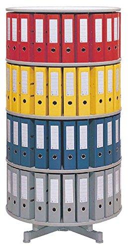 Preisvergleich Produktbild Ordnerdrehsäule Typ R2 100 3 Etagen grau