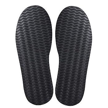 Shoe Rubber Sole Repair Full Soles Shoe Repair Supplies Non-Slip Black 1 Pair