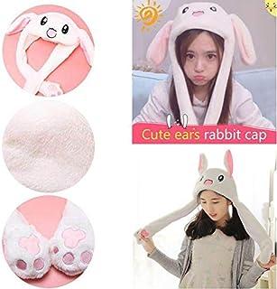 c4fb98a0db832 1pc drôle bonnet de lapin en peluche animal chapeau bonnet de lapin avec  les oreilles sautant