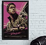 MXIBUN Leinwand Malerei Ryan Gosling Movie Drive Poster