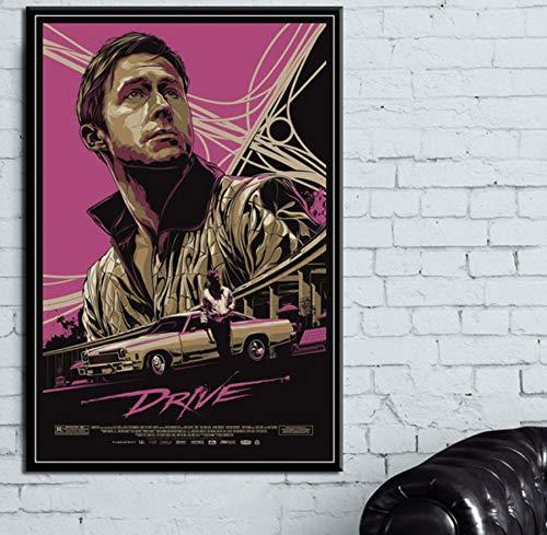 MXIBUN Leinwand Malerei Ryan Gosling Movie Drive Poster Drucken Wandkunst Bild Geschenk Wohnkultur Ohne Rahmen 50 * 75 cm