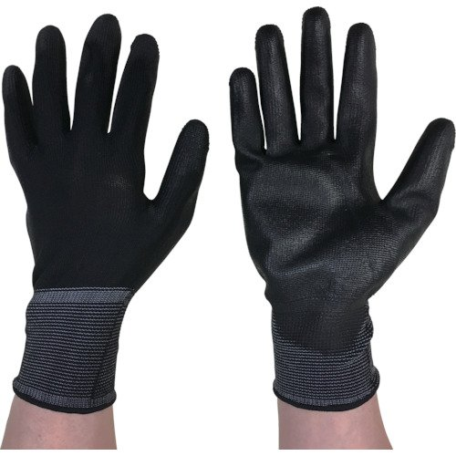 カチボシ ウレタン加工手袋 フィットライナー 黒 S 3双組 #361