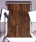 5x7ft Planche de Bois Brun Photo Toile de Fond Planche de Bois Portrait Photographie Fond Tissu Photo Booth Prop