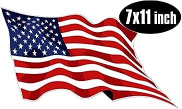 Large Waving American Flag Sticker (USA Made Patriotic rv)