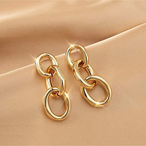 S925 Pendientes de la cadena de la personalidad de la moda de la moda Girl Cumpleaños Joyería de la joyería de plata