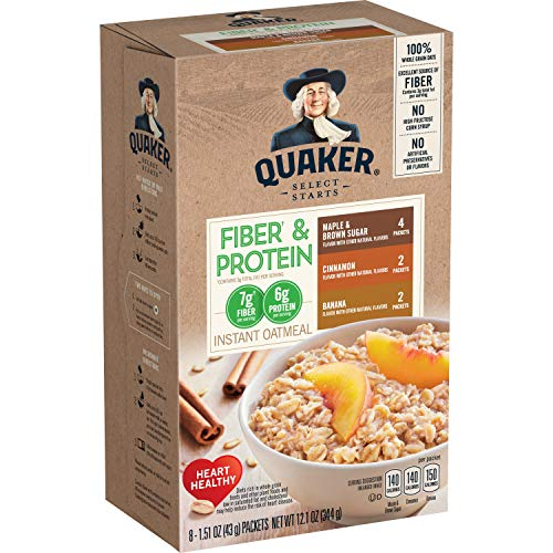 Quaker Instant Oatmeal Weight Control, Variety Pack, Breakfast Cereal, 8 Packets Per Box ,12.6 Ounce (Pack of 4)