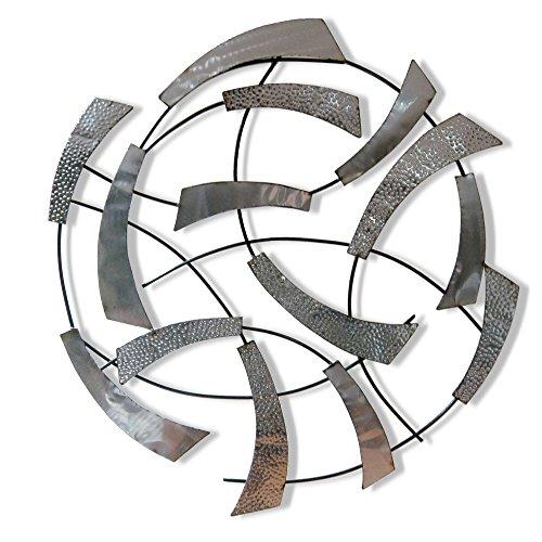Sésame Decoration Pared, Metal, Gris Plata, 80x 80x 5cm