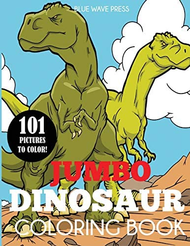 Jumbo Dinosaur Coloring Book Big Dinosaur Coloring Book with 101 Unique Illustrations Including product image