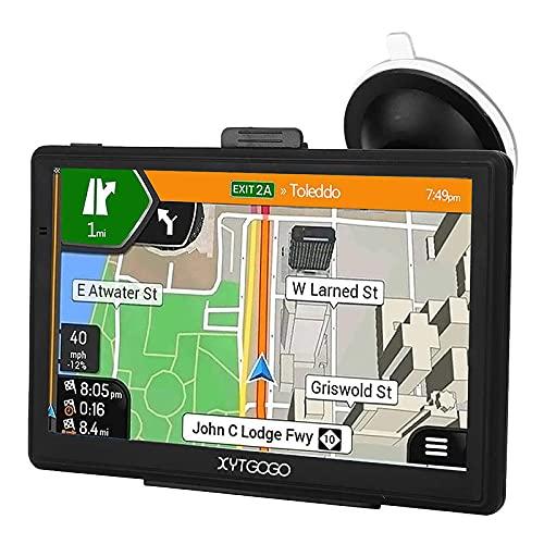 Auto GPS Navigationsgerät,Navigation-PKW LKW Navi Road Trips 2021 Karten-Updates Europa UK Lebenslang Kartenupdates POI Blitzerwarnung Sprachführung Fahrspur 5 Zoll Schwarz 8GB