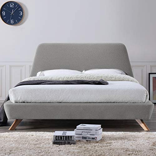 Omax Decor Henry Upholstered Platform Bed Queen Gray product image