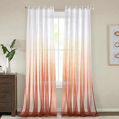 Panels Sheer Curtains Voile Transparent Curtains Voile Bedroom Ultra Soft Voile Kid Windows Balcony Decor Living Room,42Wx96L