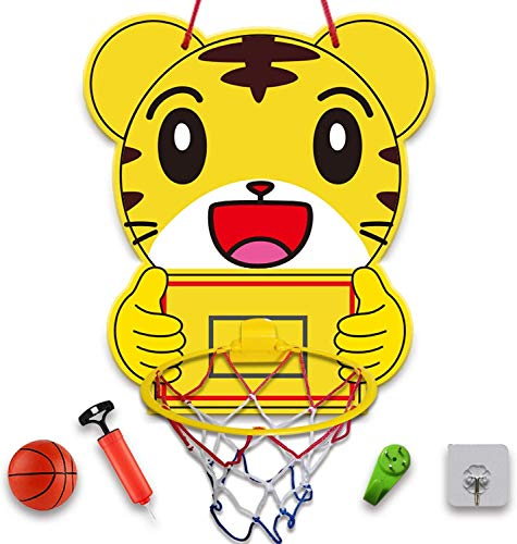 Lbsel Mini Juego de aro de Baloncesto de Interior para niños Aro de Baloncesto para Puerta, Pared con Accesorios completos - Juguetes de Baloncesto con Bolas Regalos para niños