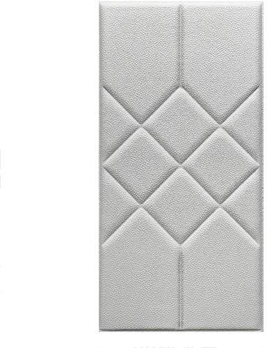 QIANCHENG-Cushion Tapete Weiche 3D-Wandpaneele Wandverkleidung Dekor Fliesen Wandaufkleber Zuhause Hintergrundwand Dekoration Antikollisions Selbstklebend Wandmatte, 5 Farben (Color : B, Size : 5pcs)