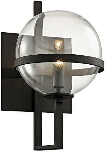 lowest Troy wholesale Lighting B6221 Elliot - One Light Wall Mount, 2021 Black Finish with Clear Glass online sale