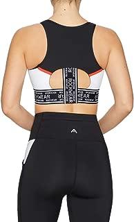 Rockwear Activewear Women's Olympia Mi Crop Logo Bra Black 16 From size 4-18 Medium Impact Bras For