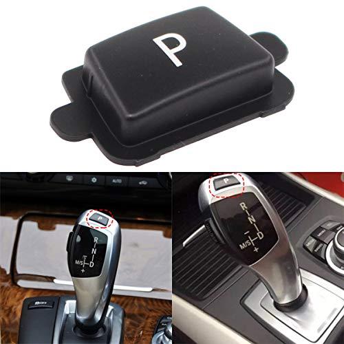 XtremeAmazing Gear Shift Knob Lever Parking P Button Cover Cap Black
