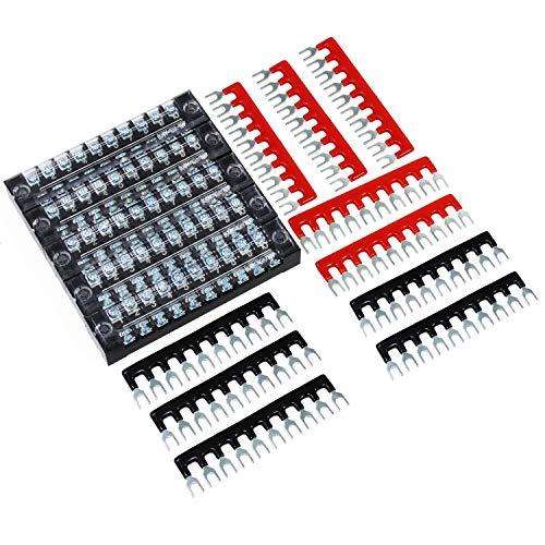 HSeaMall 600V 15A Schraubklemmenleiste 10Position Zweireihige Schraubenleiste Schraube 15PCS (10Position-5pack)