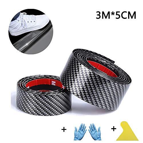 1 protezione per portiera auto e paraurti, 3 m, colore nero.
