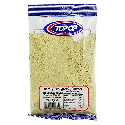 TOP OP - Methi Powder Fenugrec - Recette Ayurvédique en Poudre 100% Naturel - Traitement pour la Peau et les Cheveux - 100 gr