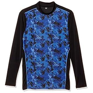 [ケイパ] Tシャツ 吸汗速乾 UVカット 接触冷感 軽量 エステルベア天竺 長袖 ハイネック メンズ ネイビー 日本 M (日本サイズM相当)