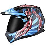 Casco MTB de cara completa, casco de moto cross para niños de 5~12 años, cascos de motocross unisex para descenso, enduro, quad, bmx, karting 21,XXL
