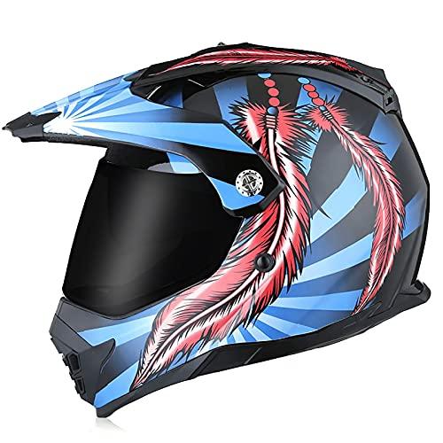 Casco de motocross, casco integral con gafas, guantes, máscara, casco protector, unisex, utilizado para casco de moto, casco de bicicleta de montaña. 1,XL