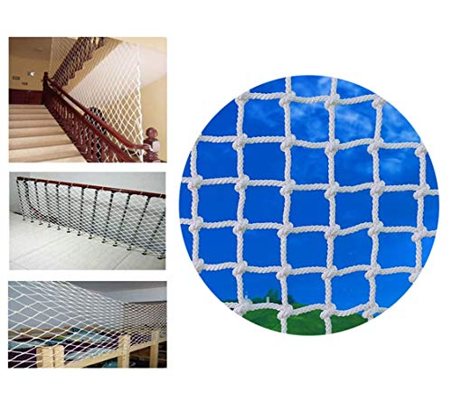 Great Features Of Balcony/Stairway/Patio Railing Safety Net Child Safety Net, White Decoration Net P...