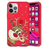 Pnakqil Navidad Funda para Huawei Y7 Pro (2019) 6,26',Antichoque Rojo Suave Silicona Carcasa con Diseño de Patrones Navideños Protectora Case Compatible con Huawei Y7 Pro 2019, Ciervos 05