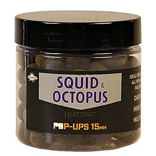 Dynamietaas Boilies Foodbait Pop up Hi-Attract Squid Octopus 15 mm Geen Een