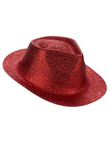 Chapeau pailletté rouge adulte - Taille Unique