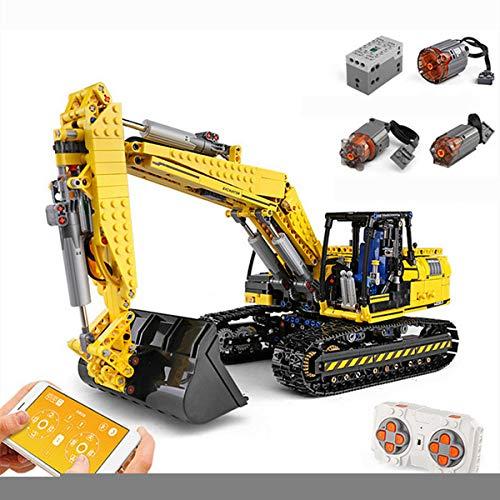 XIAOKEKE Technic - Excavadora Motorizada con Control Remoto Y 6 Motor, Juegos De Construcción, 1830 Bloques - Compatible con Lego Technic