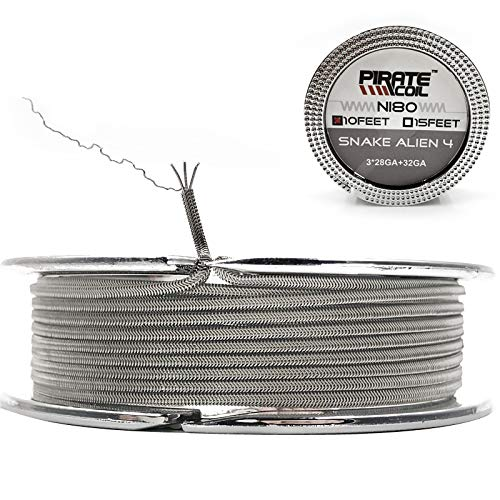 10 ft - AWG 28GAx3+32GA ni80 Alien Nichrome 80 Heat Resistance Wire Prebuilt Wire Coils for Household Wiring Use