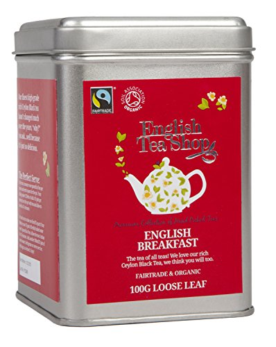 English Tea Shop English Breakfast Fairtrade and Organic Loose Tea 100 g