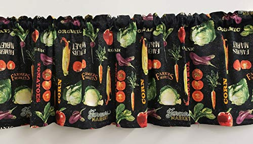 "Farmerrs-Markett-Veggies Curtainsss & Valancess - Home Decorationss - AU9 (2 Curtain Panels (24"" Long x 40"" Wide))"