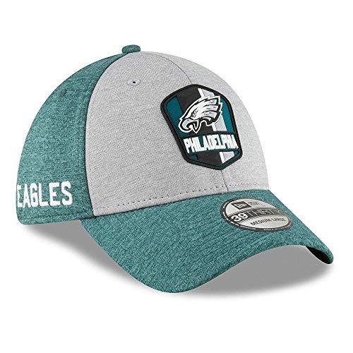 New Era Philadelphia Eagles on Field Sideline 18 Road 3930 39thirty Cap Curved Visor S M NFL