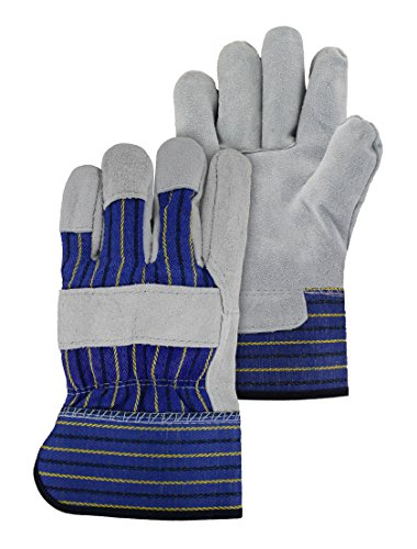 Magid Glove & Safety TB625ETXXL General Purpose Leather Palm Work Glove, Capacity, Volume, Leather Palm, Xx-Large, Grey & Blue