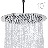 Topmail 10 Inch Round Fixed Shower Head Rainfall 304 Stainless Steel High Pressure