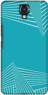 AMZER Slim Designer Snap On Hard Case Back Cover for Infinix Note 4 - Carbon Fibre Redux Aqua Blue 3