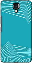 AMZER Slim Designer Snap On Hard Case Back Cover for Infinix Note 4 - Carbon Fibre Redux Aqua Blue 3