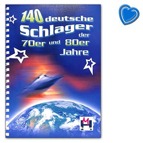 140 deutsche Schlager der 70er- und 80er Jahre - Songbook mit bunter herzförmiger Notenklammer - BOE7882 9783865439789