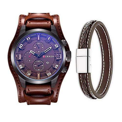 Curren, orologio da uomo alla moda classico in stile militare con cinturino...