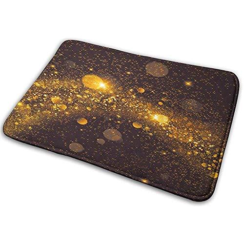 Felpudo Alfombra de baño Alfombrilla Alfombra Espacio Exterior Espacio Exterior como Puntos Manchas de bruma Radiante Obra Moderna Impresión Chocolate